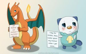 Pokeshaming - Charizard and Oshawott by eddiew