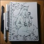 Sketchbook - Holo (NSFW on Patreon) by Candra