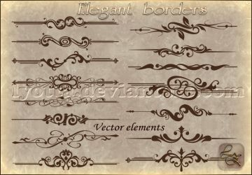 Vector borders corners LZ 2 by Lyotta