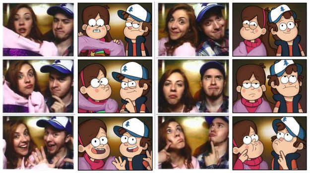 Dipper and Mabel IRL by markmak