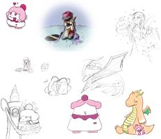 Pokemon Sketch Dump by papersak