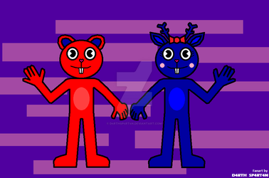 HTF Red and Blue [Request] by D4RTHSP4RT4N