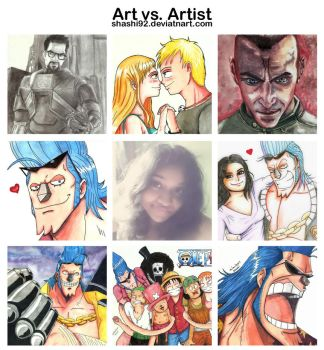 My Art Vs. Artsist by Shashi92