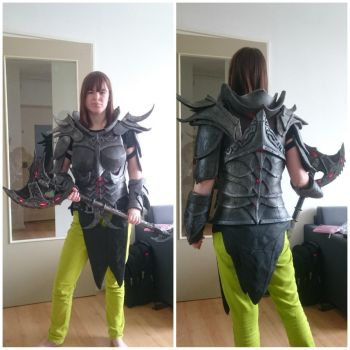 Skyrim daedric armour. Now with lights! by talkenia