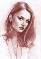 Robin Tunney drawing by dasidaria-art