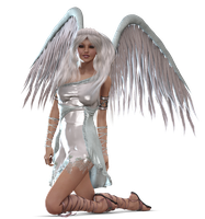 Angel Kneeling PNG by Variety-Stock