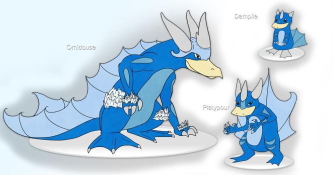 Fakemon - Water Starter by Winter-Osprey