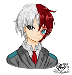 Shouto Todoroki by FirePokeMaster