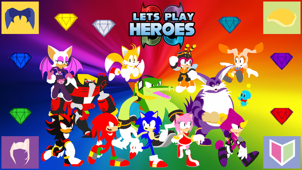 Let's Play Sonic Heroes Wallpaper (Flat Version) by MidniteAndBeyond