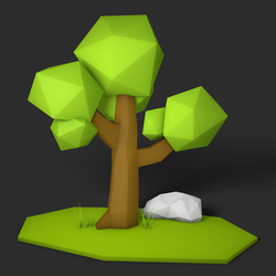Low Poly Tree Scene by MChChovanec