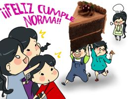 feliz cumple Norma by Gret-chu