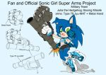 SonicSuperArmsProject JuliaTheHedgehog(DesignTest) by skyshek