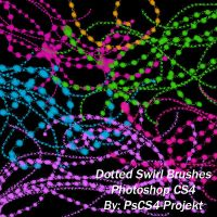 Dotted Swirl Ps CS4 Brush Set by PsCS4-Projekt