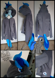 Commission: Vapor Stripes Hoodie by kleinespika