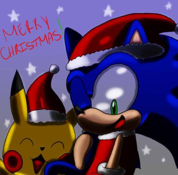 CONTEST: pikachu and sonic's Christmas XD by SonicForTheWin1