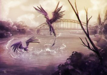 Griffins by jeanettevollmer