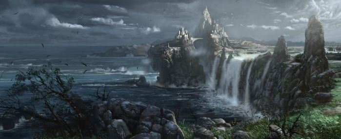 Castle by the sea by mingrutu