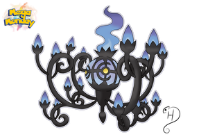 Mega Chandelure by cdhernly