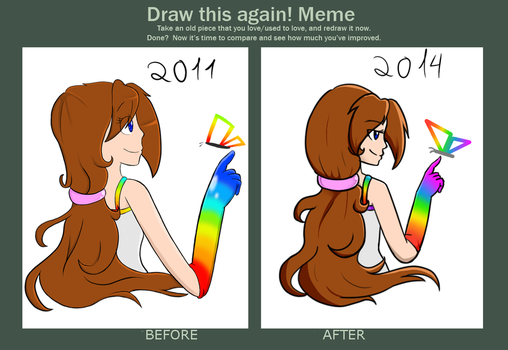 Draw this again meme by Tails-Doll-Lover