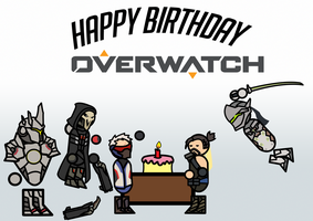 One Year of Overwatch by Shadowpredator100