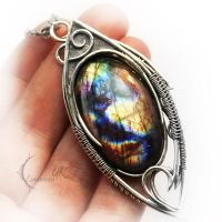EXULTURH - silver and labradorite by LUNARIEEN
