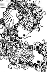 Graphic Koi by LeonardGirl