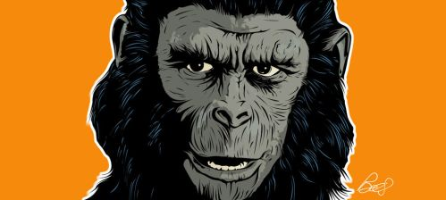 Ceasar from Planet of the Apes (Original) by gravitydsn