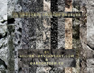 Concrete Texture Brushes by silver-