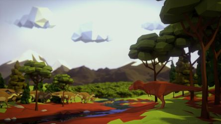 Low Poly Cretaceous by ChrisMasna