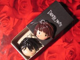 DN: Earrings Raito and L by Plushbox