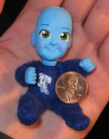 Baby Megamind doll by HollyRoseBriar