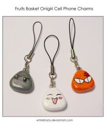 FruitsBasket Cell Phone Charms by whitefrosty