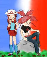 Request-Blue and Flannery by chococustard