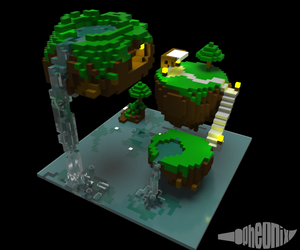 Tiny  Floating Islands [Voxel Art] by WFpeonix