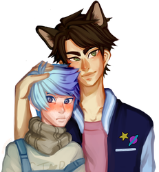 Commission- Vesta And Theodore by memeavatar