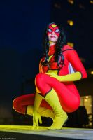 Spider woman sitting by Kythana