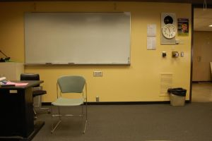 School Classroom with Chair by happeningstock