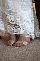 Feet of the bride by dancekellydance