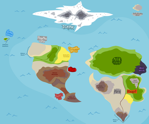 Poscides Planet (Map) by gagaman92