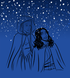 Snow - Kili and Tauriel by Irrel