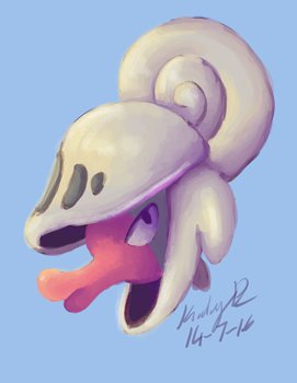 Painting Practice: Shelmet by AbyssinChaos