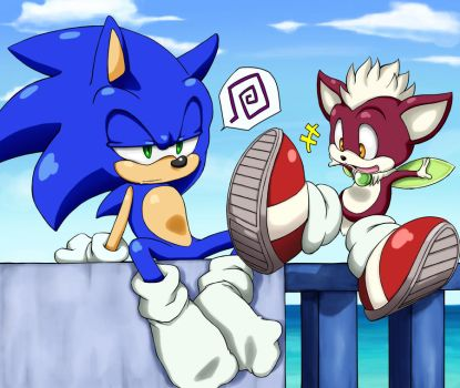 Chip stole Sonic's shoes. by shoppaaaa