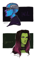 guardians of the galaxy - nebula and gamora by shorelle