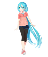GG's Casual Miku WIP2 by garbagegobble