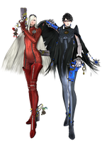 Bayonetta and Jeanne - Ready to Fight by SilverMoonCrystal