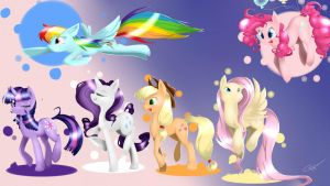 Color Spectrum - Mane 6 by charmcrest
