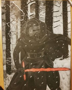 kylo ren In the snow by yorkshirepudding1990