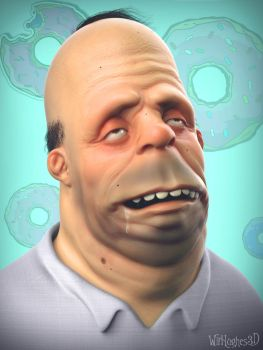 Homer Simpson by 90swil