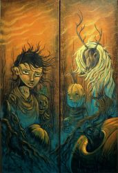 The Pumpkin Mass Diptych by sweetlygrotesque