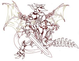 Dragon Of Armory-Lineart by arvalis